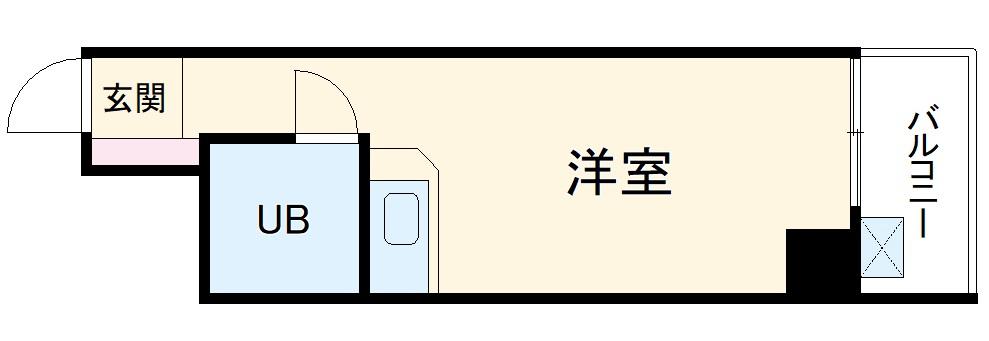チサンマンション桜通久屋 201号室の間取り