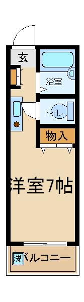 藤澤ビル・602号室の間取り