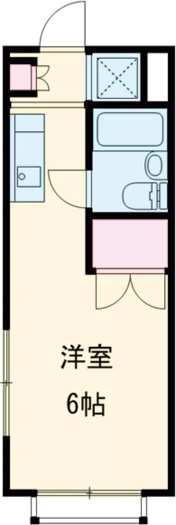 ハイムササキ 102号室の間取り