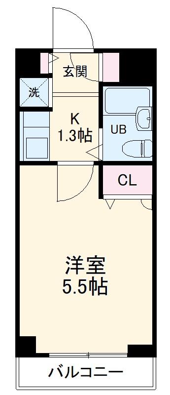 センチュリー川崎高津・B114号室の間取り