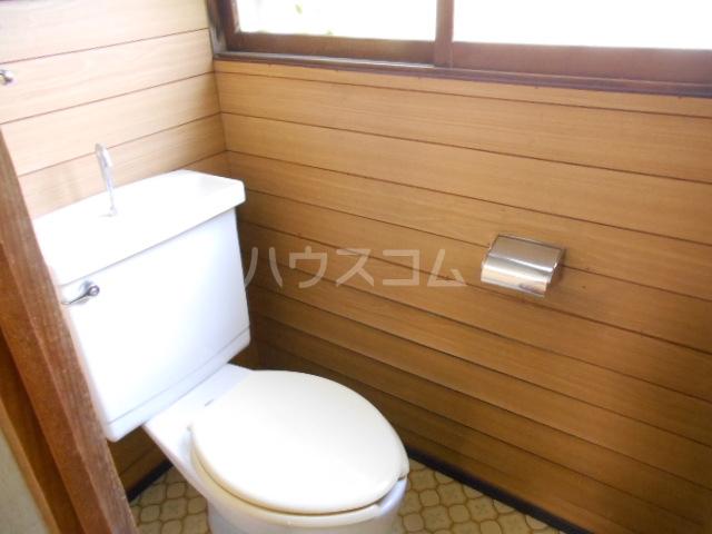 老川貸家のトイレ