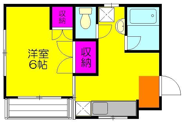 江利川コーポ・202号室の間取り