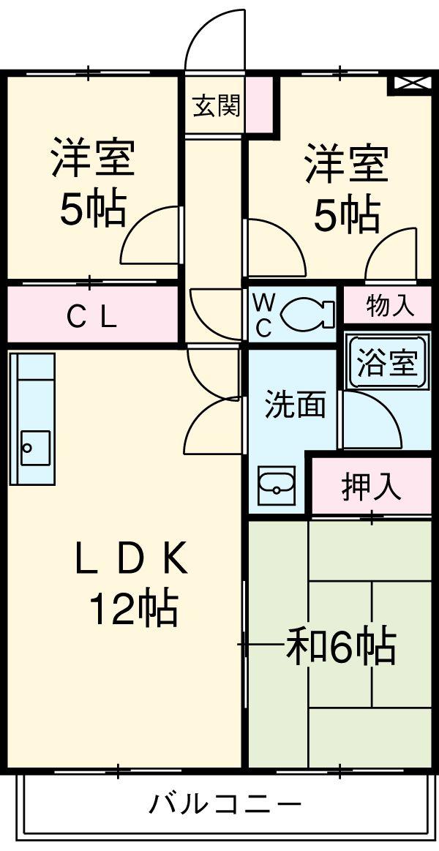 サンライズマンション・202号室の間取り