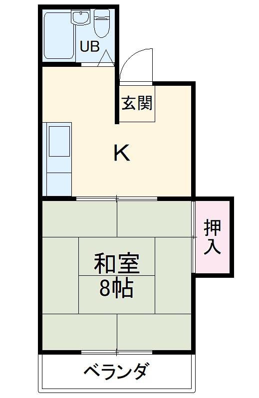ヤマタカシティビル・302号室の間取り