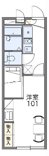 レオパレスYOSHIOKA・201号室の間取り