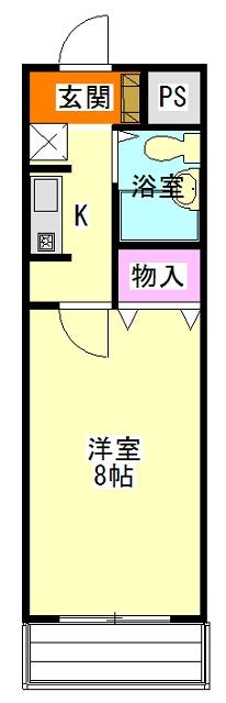 コスモ前橋昭和町 211号室の間取り
