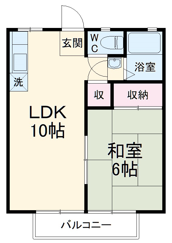富士ハイツC棟 205号室の間取り