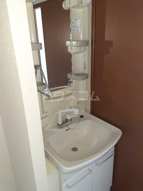 N.HラッキーハイツB 201号室の洗面所