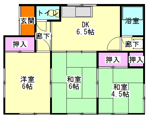 藤井住宅2・1号室の間取り