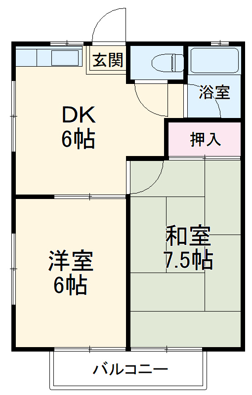 田村ハイツA・203号室の間取り