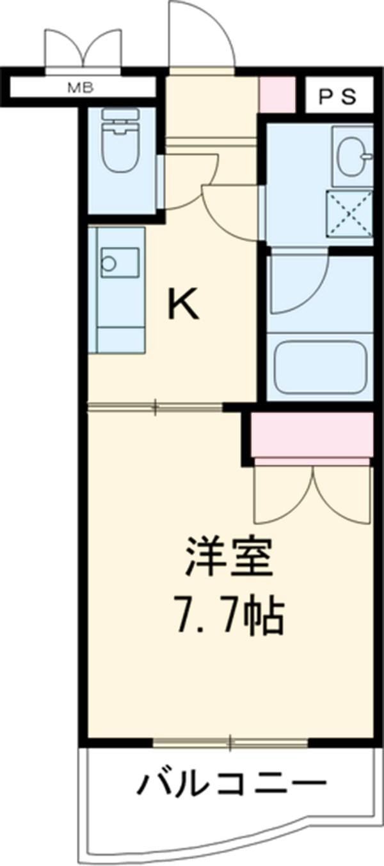 ジュネスマンション 207号室の間取り