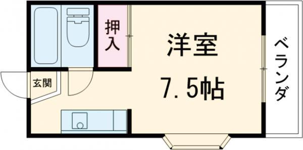 アーバニーハイム川井 Ⅰ・206号室の間取り