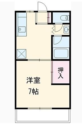ミヤマコーポⅡ・202号室の間取り