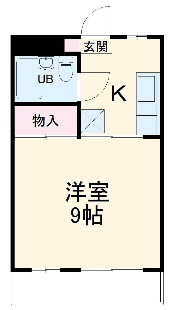 島崎マンション 201号室の間取り