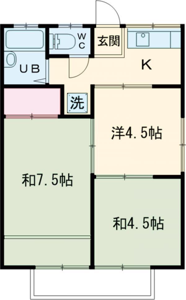 田村ハイツA・202号室の間取り