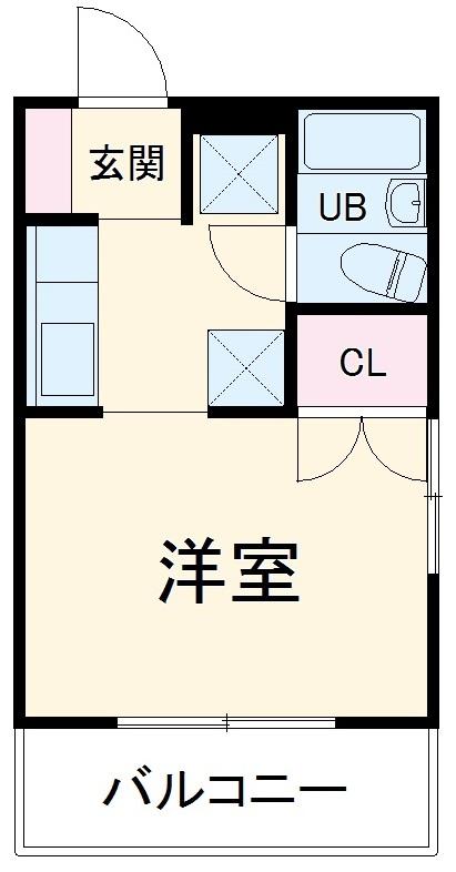 モンパレス太田第3-1・201号室の間取り