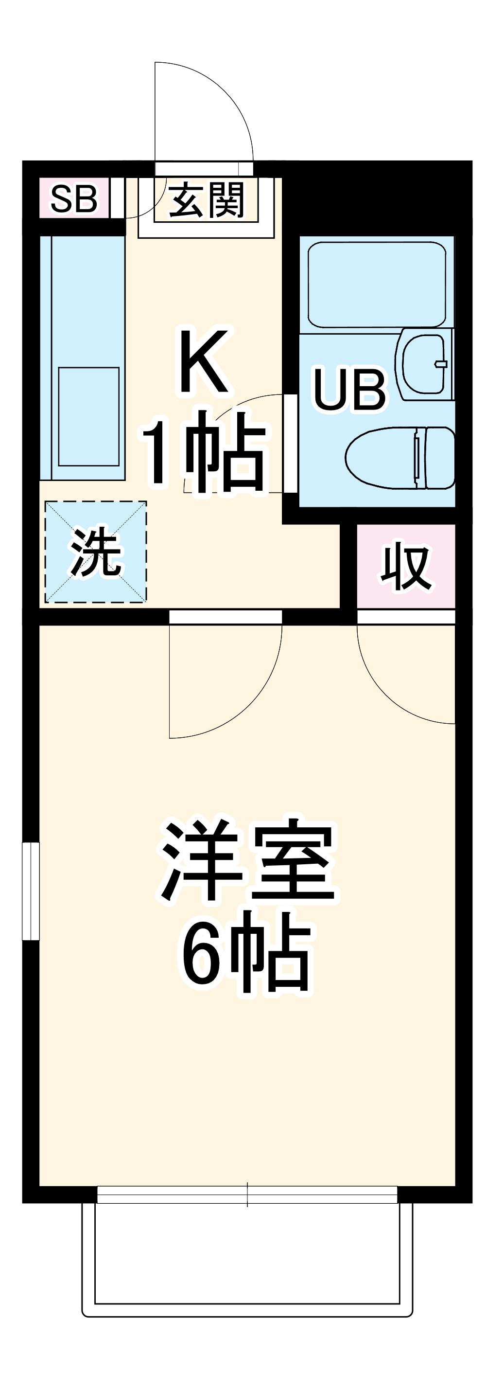 アリス太田第9・205号室の間取り
