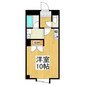 キュウブEX北代田・302号室の間取り