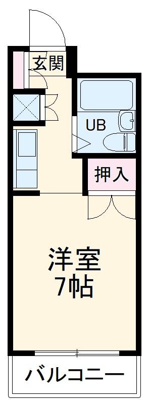 キャッスルマンション熊谷・502号室の間取り