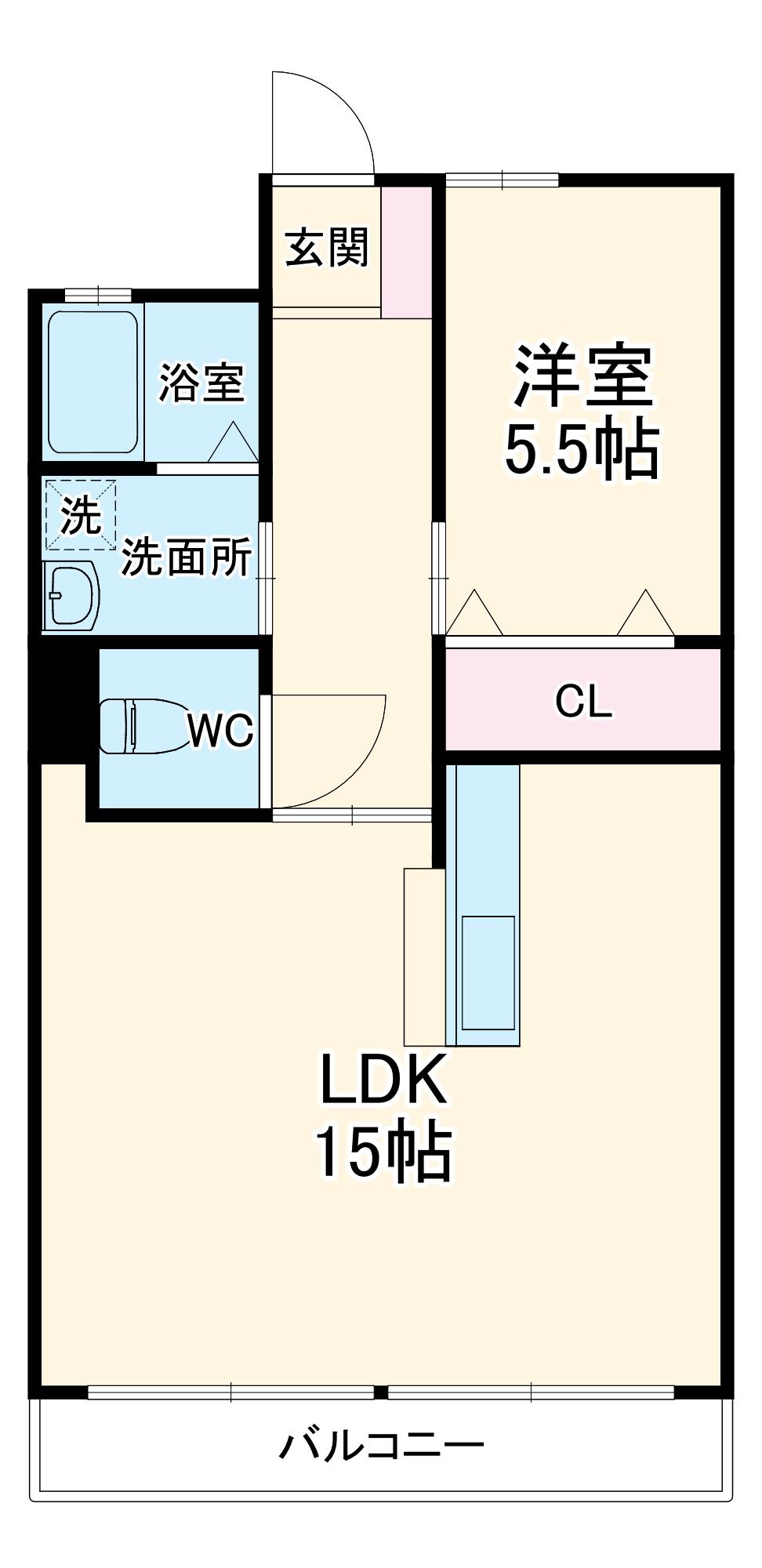 平山マンション 202号室の間取り