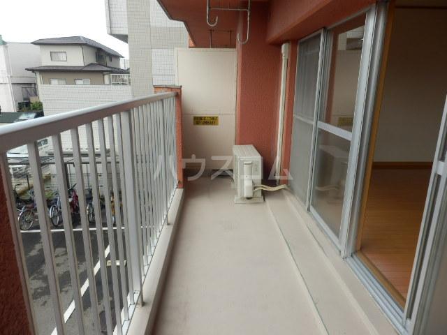 平山マンション 202号室のバルコニー