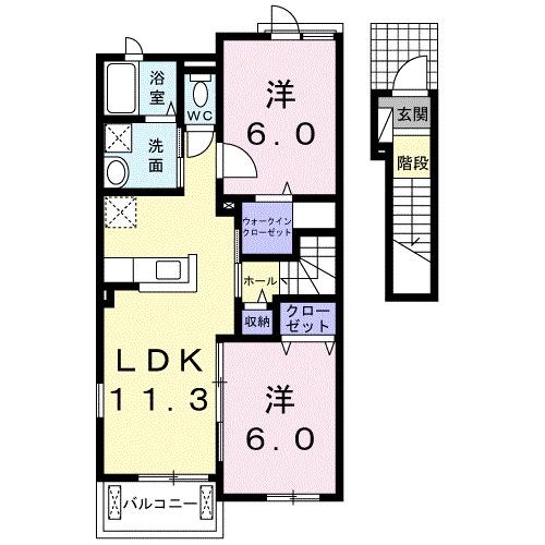 ポラリス・ハウス B・02020号室の間取り