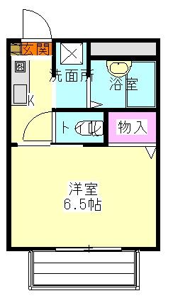シタラハイツⅡ 102号室の間取り