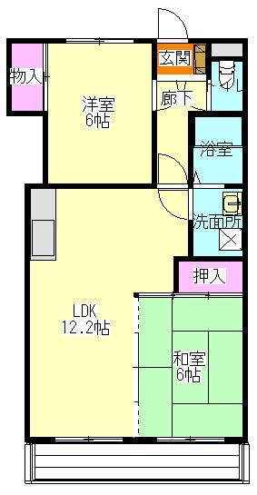 いづみマンション 205号室の間取り