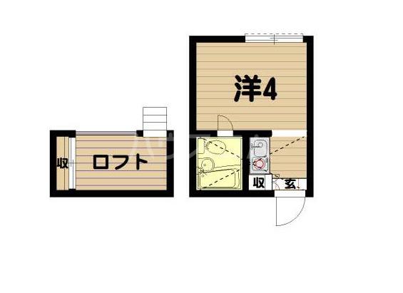 カルタス21笹塚・202号室の間取り