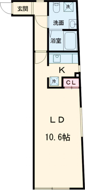 モデュロール中野新橋 0203号室の間取り