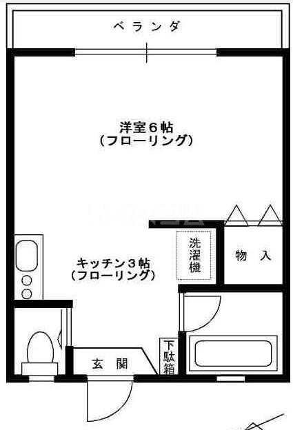 第2高崎コーポ・202号室の間取り