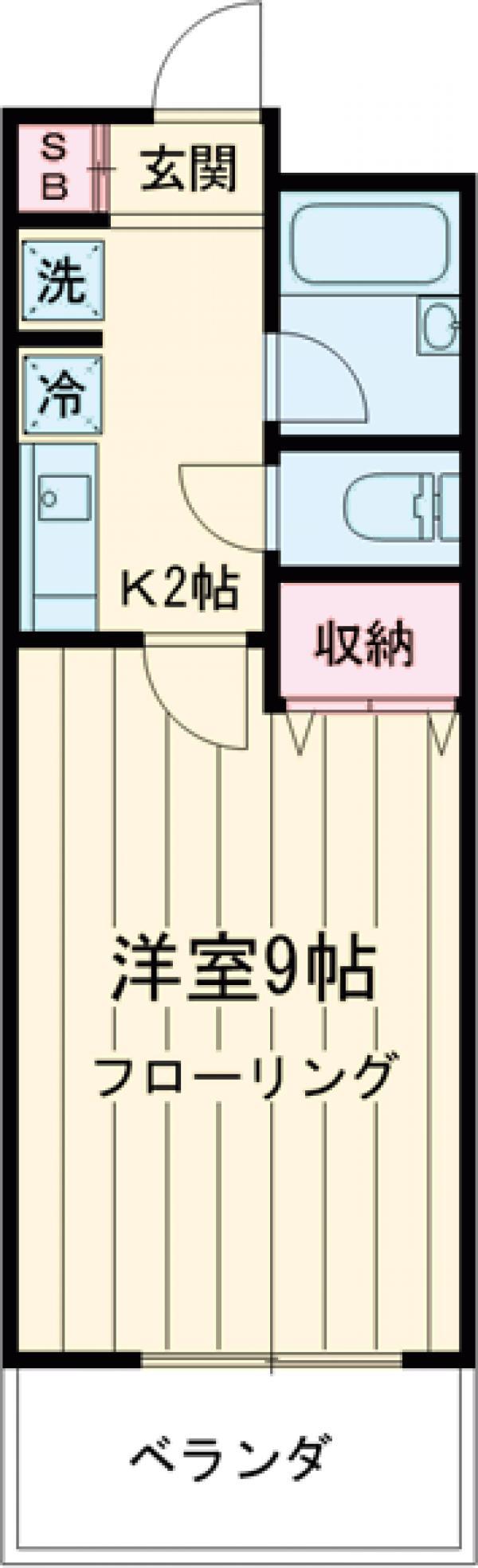 コンフォルト新江古田・102号室の間取り