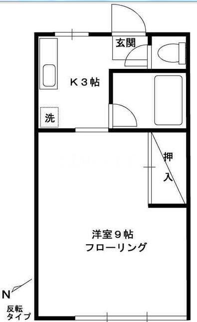 第1高崎コーポ・203号室の間取り