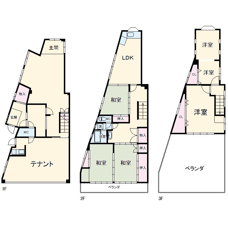 新川3丁目貸店舗 1号室の間取り
