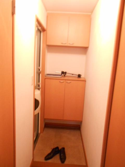グリーンアヴェニューF 202号室の玄関
