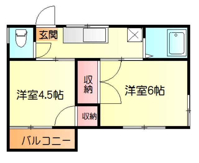 ヨコヨコハイツ・202号室の間取り