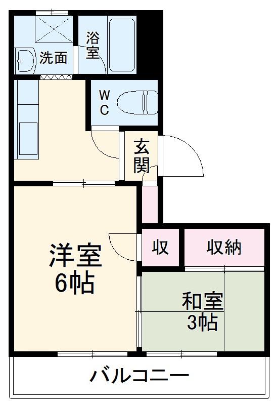 西村マンション・303号室の間取り