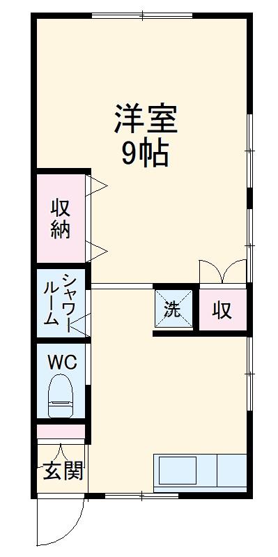 富山アパート・2号室の間取り