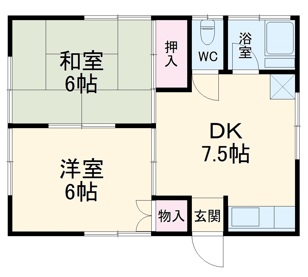名倉荘・2号室の間取り
