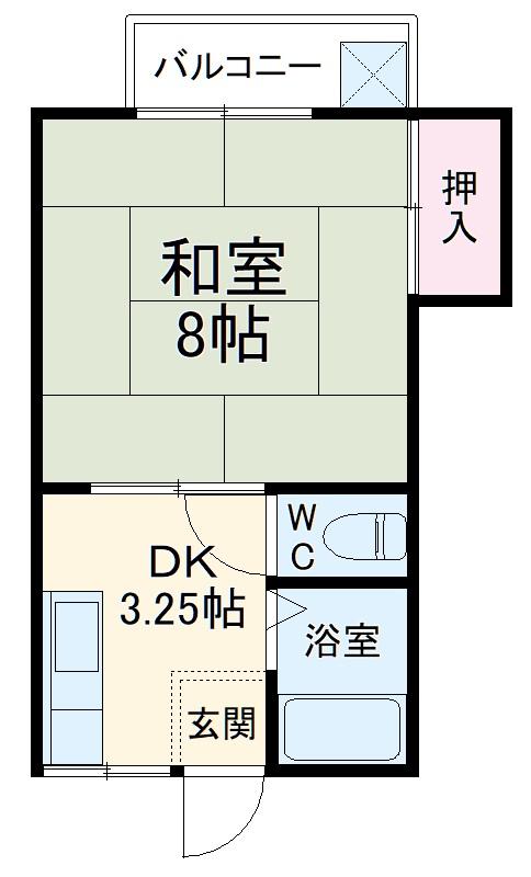 佐藤アパート・202号室の間取り