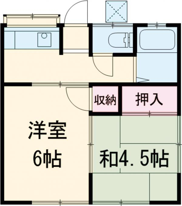 榎本アパート 201号室の間取り