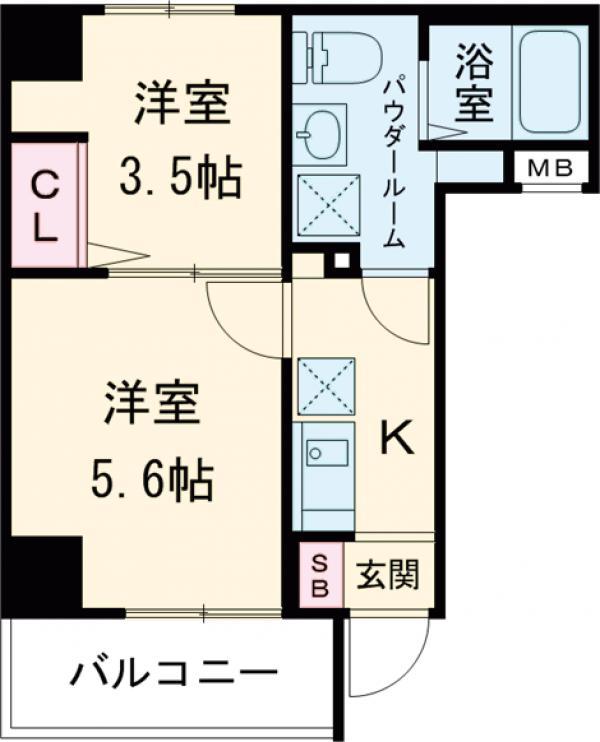 アンベリール マーロ北綾瀬Ⅱ・103号室の間取り