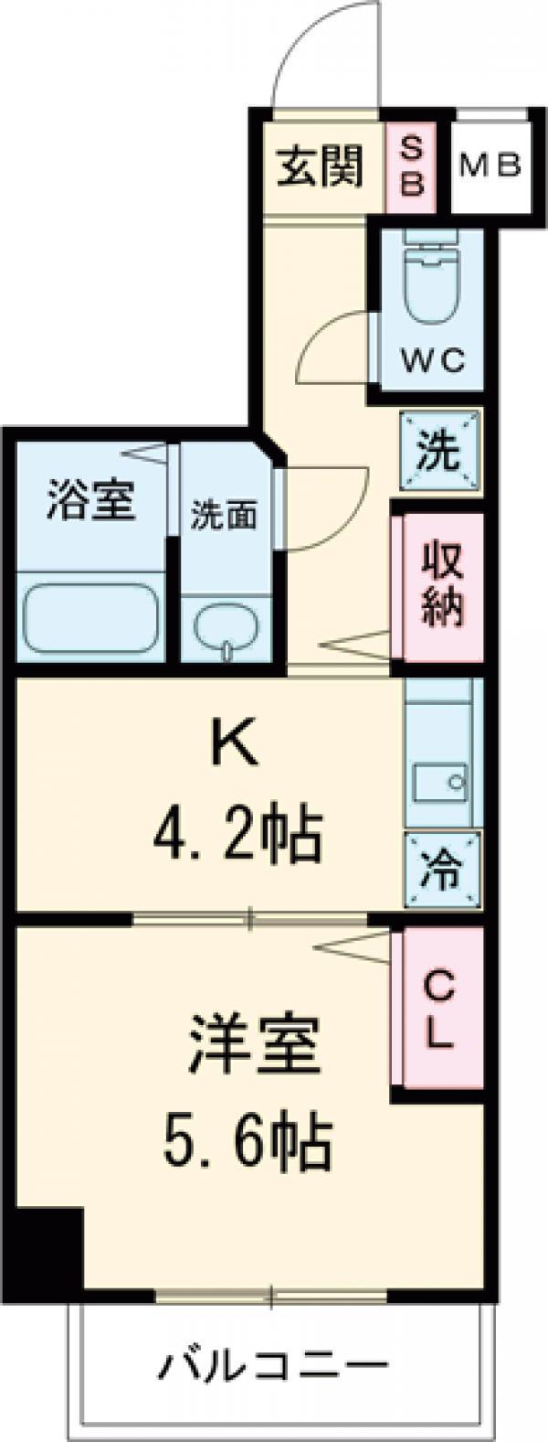アンベリール マーロ北綾瀬Ⅱ・203号室の間取り