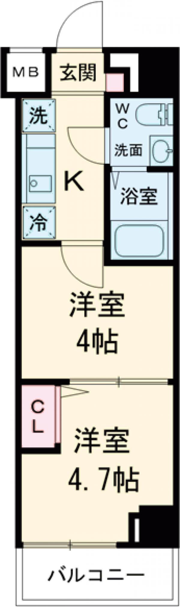 アンベリール マーロ北綾瀬Ⅱ・204号室の間取り