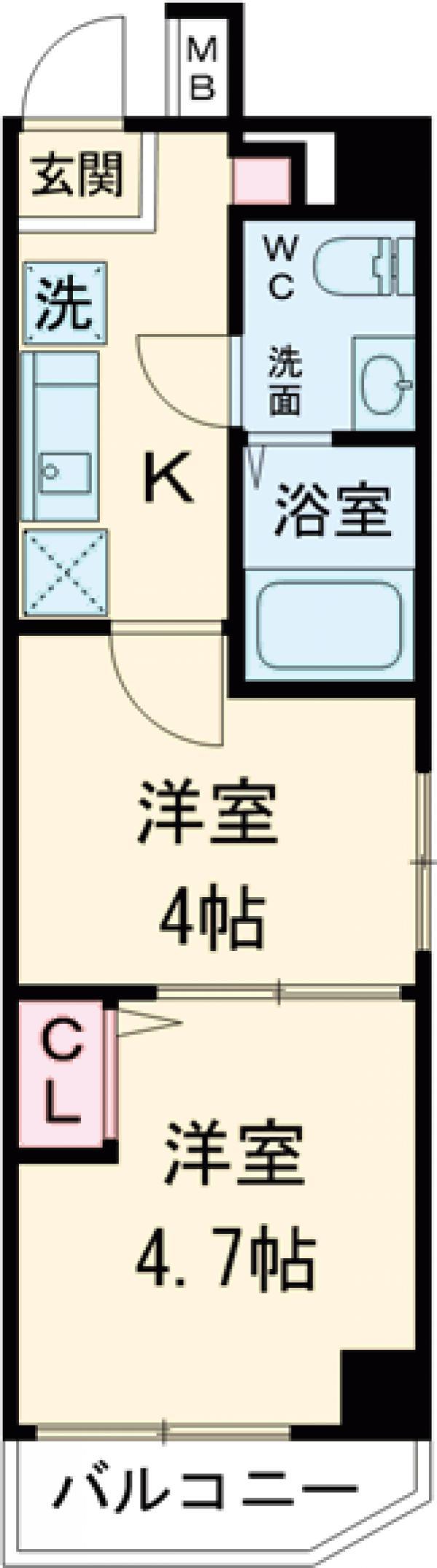 アンベリール マーロ北綾瀬Ⅱ・305号室の間取り