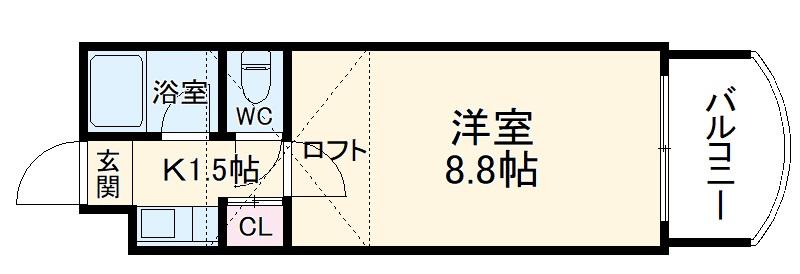 プラン・ド・ビ藤崎 303号室の間取り