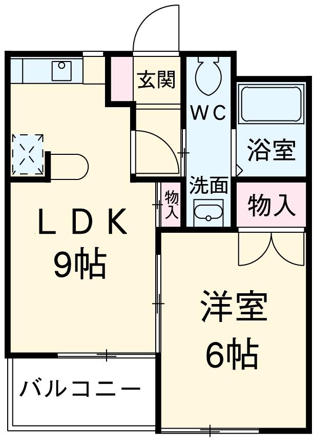東マンションⅡ・5-B号室の間取り
