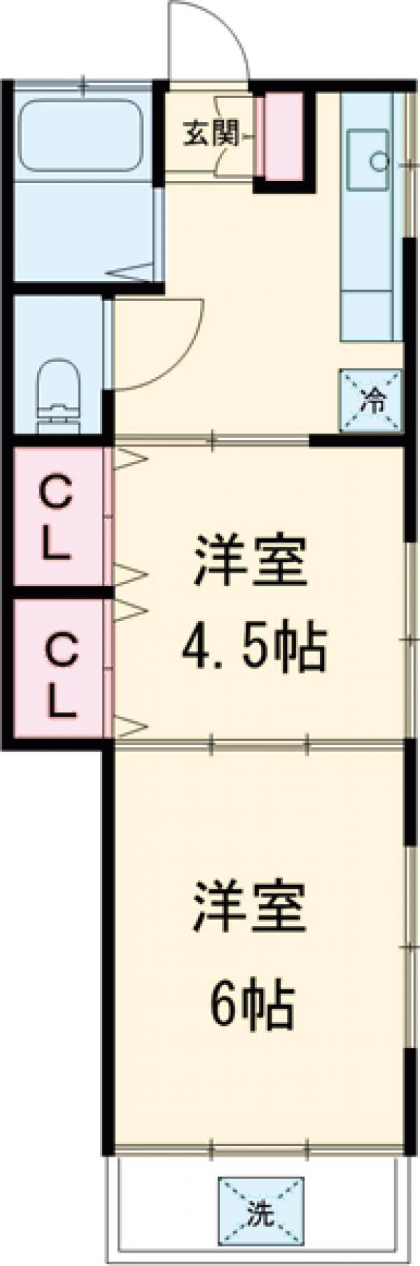 桜井ハイツ・1-A号室の間取り