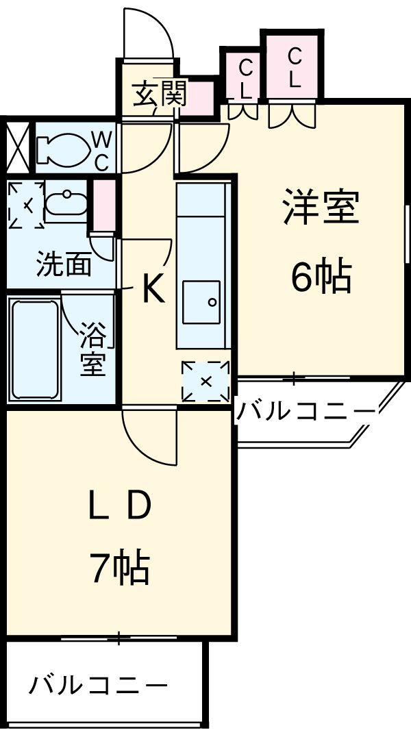 プラウドフラット蒲田Ⅱ・1203号室の間取り