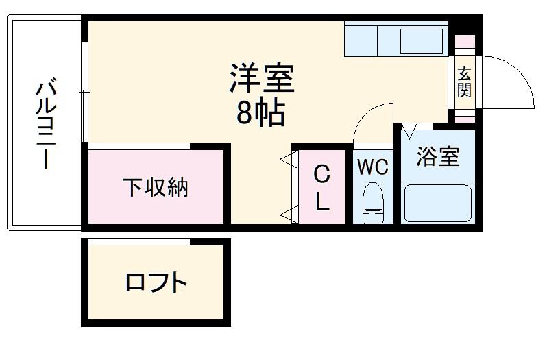 ウイング奈多7・203号室の間取り